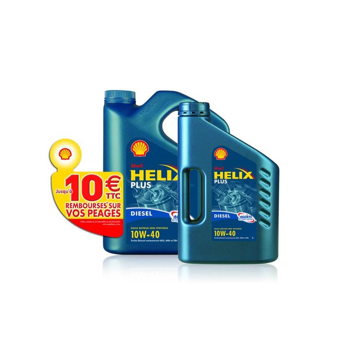 Huile Shell Helix Plus 10w40 D 5L+2L+10E péage