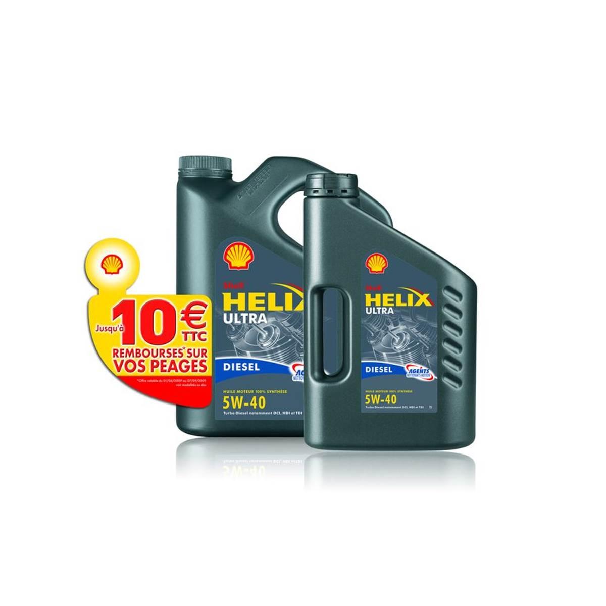Huile Shell Helix Plus 5w40 D 5L+2L+10E péage
