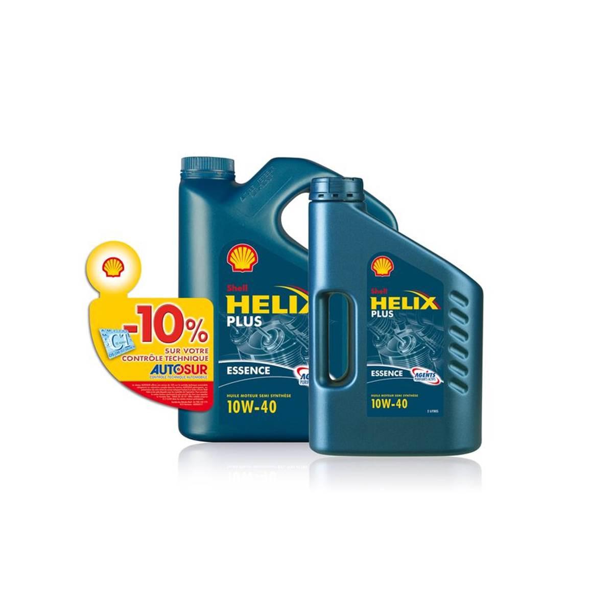Huile semi-synthèse Shell Helix Essence Plus 10W40 5L