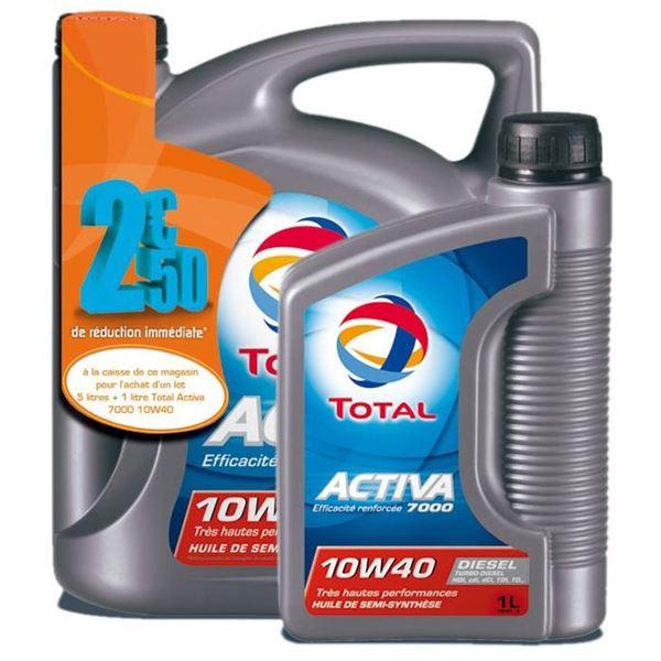 Huile Moteur Total Activa 7000 10w40 Diesel Feu Vert