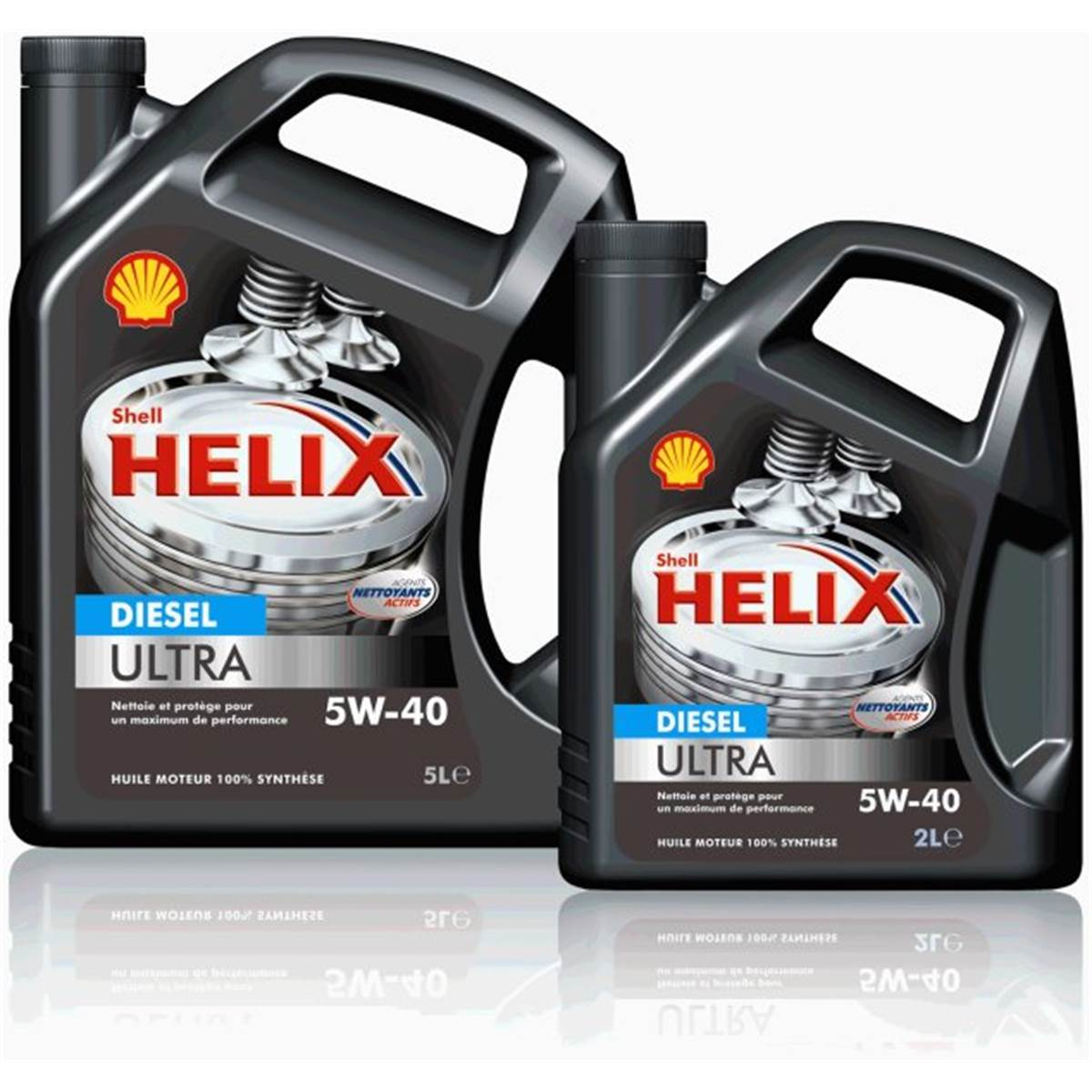 Huile 100% synthétique Shell Helix Ultra 5W40 5L Diesel