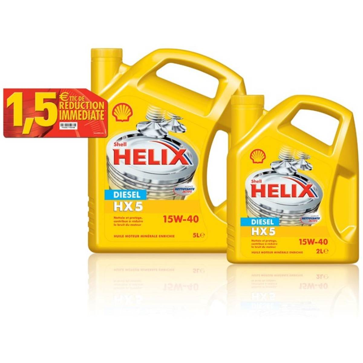 Huile SHELL HX5 diesel 15w40 5L + 2L