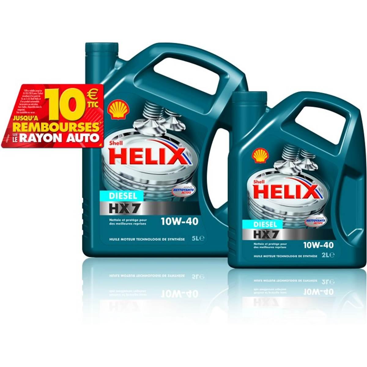 SHELLE HELIX HX7 D 10W40 5L+2L+ ODR 8 EUROS