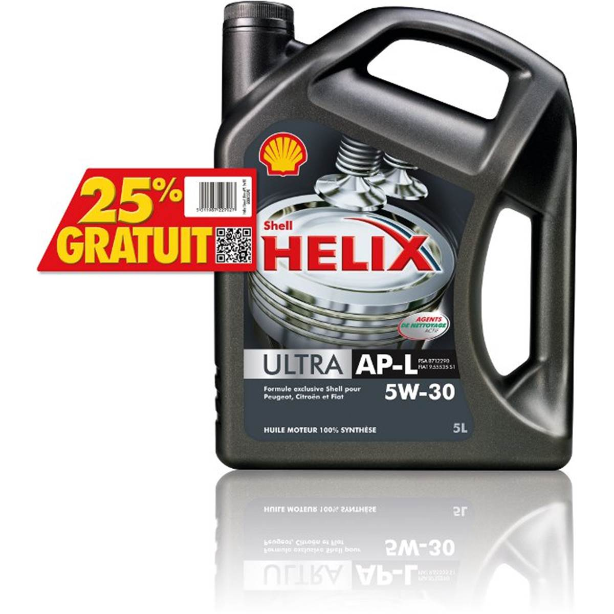Huile moteur SHELL ULTRA AP-L PSA essence/diesel 5W30 5L