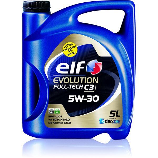 huile moteur elf evolution full tech c3 essence diesel 5w30 5l feu vert. Black Bedroom Furniture Sets. Home Design Ideas