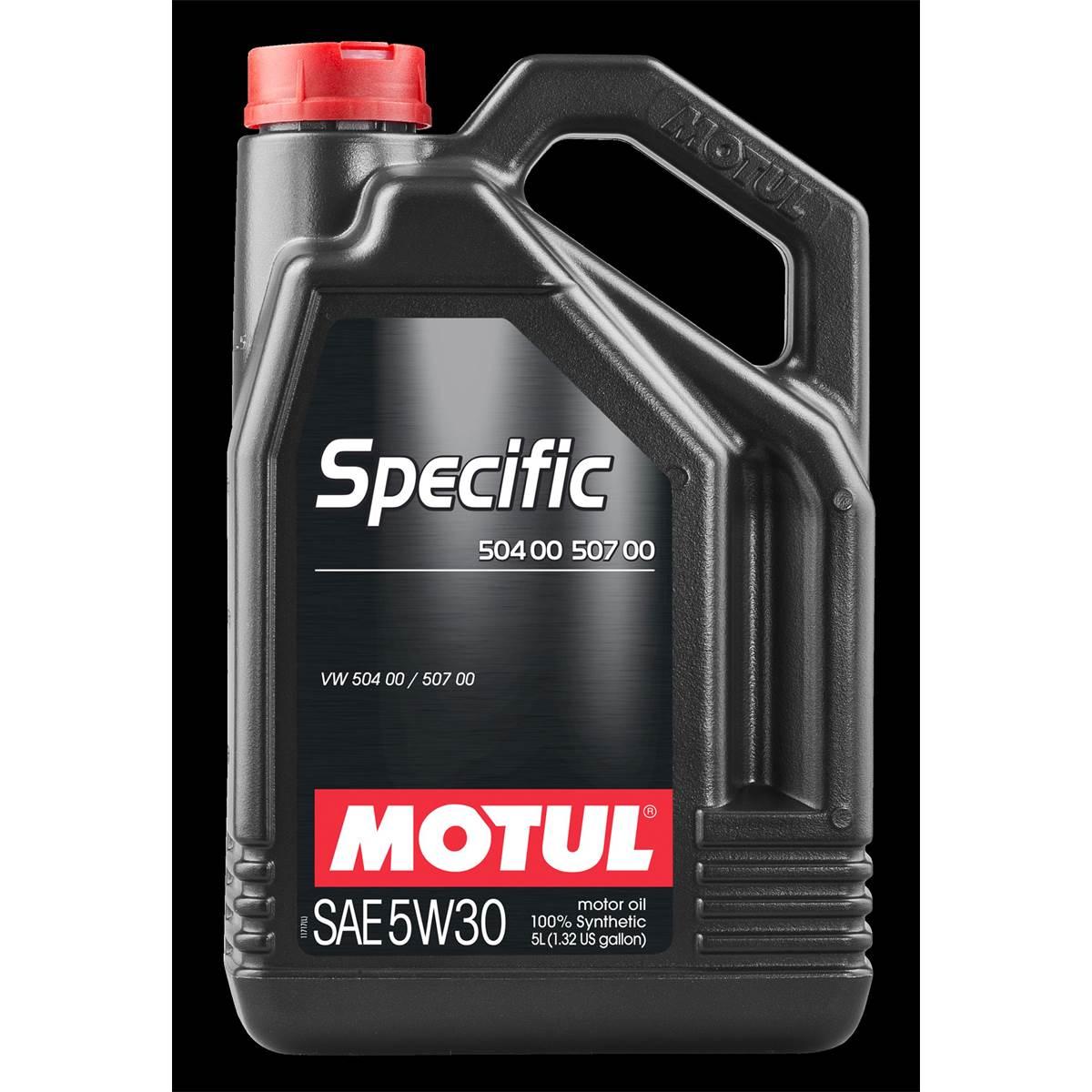 Huile moteur MOTUL SPECIFIC 504 00 507 00 essence/diesel 5W30 5L