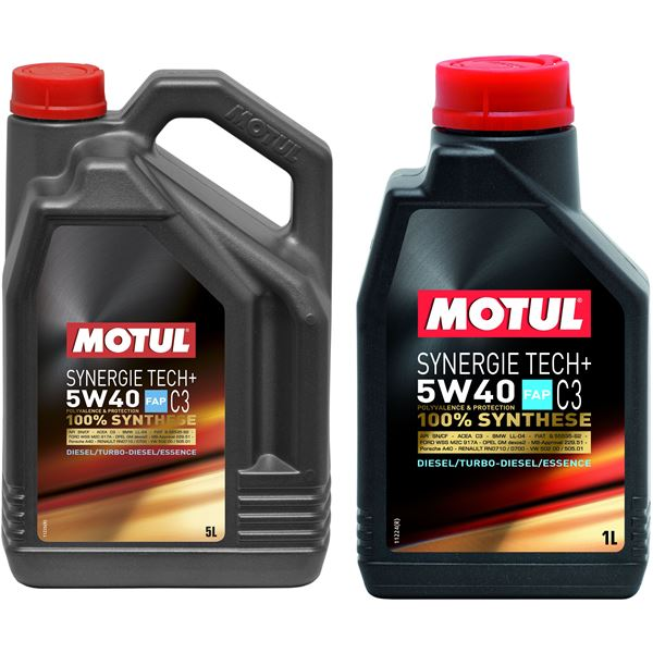 huile moteur motul synergie tech c3 essence diesel 5w40. Black Bedroom Furniture Sets. Home Design Ideas