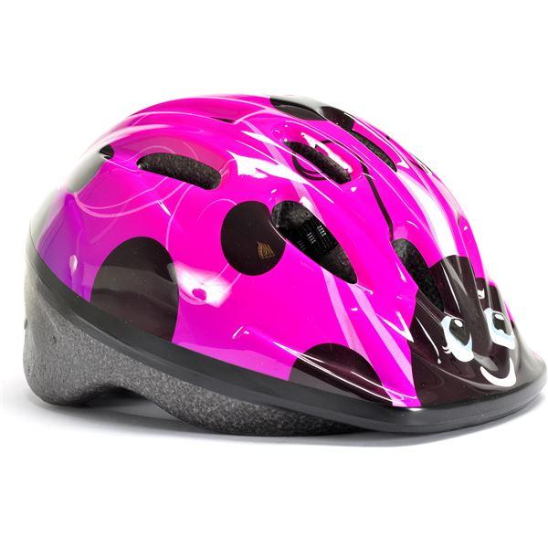 casque de v lo fille rose et violet taille xs 48 52 cms oxus feu vert. Black Bedroom Furniture Sets. Home Design Ideas